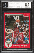 Basketball Cards:Singles (1980-Now), 1984-85 Star Co. Michael Jordan #101 BGS NM-MT+ 8.5. ...