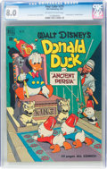 Golden Age (1938-1955):Cartoon Character, Four Color #275 Donald Duck (Dell, 1950) CGC VF 8.0 Off-white to white pages....