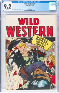Wild Western #4 Vancouver Pedigree (Atlas, 1948) CGC NM- 9.2 White pages
