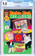 Bronze Age (1970-1979):Humor, Richie Rich Millions #72 (Harvey, 1975) CGC NM/MT 9.8 Off-white to white pages....
