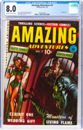 Golden Age (1938-1955):Science Fiction, Amazing Adventures #2 (Ziff-Davis, 1951) CGC VF 8.0 Off-white to white pages....