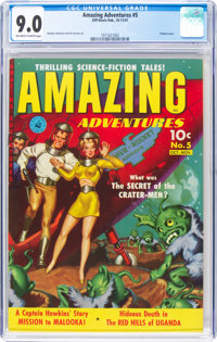 Amazing Adventures #5 (Ziff-Davis, 1951) CGC VF/NM 9.0 Off-white to white pages