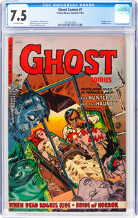 Ghost #7 (Fiction House, 1953) CGC VF- 7.5 Off-white pages