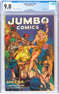 Jumbo Comics #150 (Fiction House, 1951) CGC VF/NM 9.0 Off-white to white pages