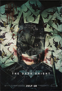 "The The Dark Knight (Warner Bros., 2008). Rolled, Very Fine+. One Sheet (27"" X 40"") SS, Advance, 'Wilding' Sty..."