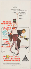 "Movie Posters:Crime, How to Steal a Million (20th Century Fox, 1966). Folded, Very Fine/Near Mint. Australian Daybill (13"" X 30""). Crime."