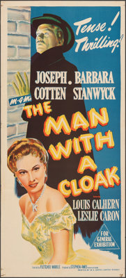 """The Man with a Cloak & Other Lot (MGM, 1951). Folded, Very Fine+. Australian Daybills (2) (13.5"""" X 30"""" &am..."""