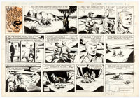 Charles Flanders The Lone Ranger Sunday Comic Strip Original Art dated 7-29-62 (King Features Syndicate, 1962)