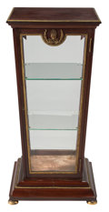 Furniture, A French Empire-Style Bronze Mounted Square Vitrine Cabinet, 19th century . 39 x 18 x 18 inches (99.1 x 45.7 x 45.7 cm). ...