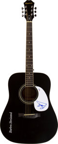 Musical Instruments:Acoustic Guitars, Barbara Streisand Signed Acoustic Guitar. ...