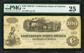 Confederate Notes:1862 Issues, T40 $100 1863 PF-20 Cr. 308 PMG Very Fine 25.. ...