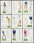 "Golf Cards:General, 1939 John Player & Sons ""Golf"" Colllection (9)...."