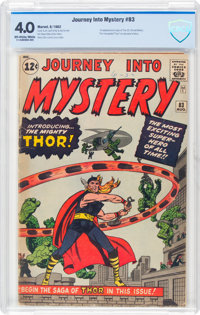 Journey Into Mystery #83 (Marvel, 1962) CBCS VG 4.0 Off-white to white pages