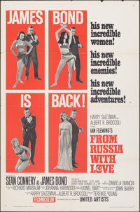 "From Russia with Love (United Artists, 1964). Folded, Fine/Very Fine. One Sheet (27"" X 41"") Style B. James Bon..."