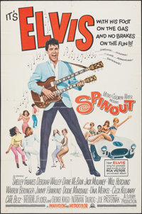 "Spinout (MGM, 1966). Folded, Fine-. One Sheet (27"" X 41""). Elvis Presley"