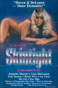 """Skintight & Other Lot (Moving Pics Co., 1981). Folded, Very Fine+. One Sheets (2) (27"""" X 41"""" & 25""""..."""