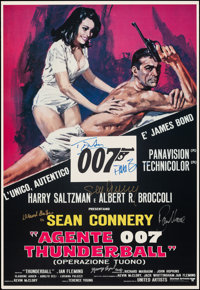 "Thunderball (c. 1990s). Rolled, Very Fine+. Autographed Reproduction Italian Poster (27"" X 39.25"") Averardo Ci..."