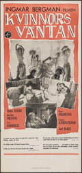 """Movie Posters:Foreign, Waiting Women (Svensk Filmindustri, 1953). Folded, Very Fine. Swedish Insert (13"""" X 27.5""""). Foreign.. ..."""