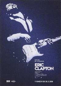 "Eric Clapton: A Life in 12 Bars (Altitude Film Distribution, 2018). Rolled, Very Fine. Czech Poster (23.5"" X 33&quo..."