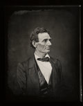 Photographs, Alexander Hesler (American, 1823-1895). Abraham Lincoln, 1860. Oversized gelatin silver, printed later . 18 x 14-1/4 inc...