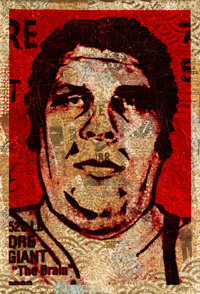 Shepard Fairey (b. 1970) Obey '89 (HPM), 2005 Screenprint in colors and mixed media collage on paper