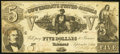 Confederate Notes:1861 Issues, T37 $5 1861 Fine.. ...