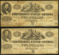 CT42/334 $2 1862 Counterfeit Very Fine; T42 $2 1862 PF-5 Cr. 337 Fine
