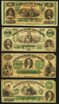 Obsoletes By State:Louisiana, New Orleans, LA- Citizens' Bank of Louisiana $5 Oct. 9, 1860 Remainder Crisp Uncirculated;. Shreveport, LA- Citizens' ... (Total: 4 notes)