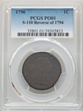 Large Cents, 1796 1C Reverse of 1794, S-110, B-16, R.3, Poor 1 PCGS. PCGS Population: (1/11). NGC Census: (0/6). ...