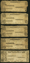 Hallowell, MA- Hall & Augusta Bank $5 (4); $10 1807-11 Fair or Better