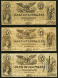 New Orleans, LA- Bank of Louisiana $5 1860-62 G10a; G10c (2) Fine or Better