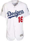 Baseball Collectibles:Uniforms, 2017 Andre Ethier World Series Game Worn Los Angeles Dodgers Jersey - Used 10-24 vs. Astros, MLB Authentic. ...