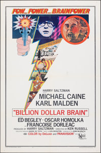 "Billion Dollar Brain (United Artists, 1967). Folded, Fine/Very Fine. One Sheet (27"" X 41""). Thriller"