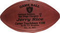 Football Collectibles:Balls, 2001 Jerry Rice Game Used Touchdown #196 Oakland Raiders Football....