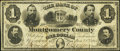 Norristown, PA- Bank of Montgomery County $1 Jan. 2, 1865 G14 Very Fine