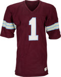Football Collectibles:Uniforms, 1984 Anthony Carter Game Worn & Signed Michigan Panthers Jersey (With Largest Team Repairs We've Ever Seen!). ...