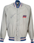 Football Collectibles:Others, 1980's Bill Parcells Game Worn & Signed New York Giants Jacket. ...