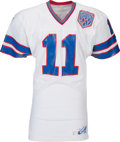 Football Collectibles:Uniforms, 1990 Scott Norwood Super Bowl XXV Game Worn Buffalo Bills Jersey with Player Letter....