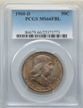 Franklin Half Dollars: , 1960-D 50C MS66 Full Bell Lines PCGS. PCGS Population: (48/1). NGC Census: (3/1). CDN: $1,150 Whsle. Bid for NGC/PCGS MS66....