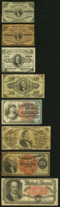 Fractional Currency:Third Issue, An Assortment of Eight Circulated Fractional Notes Very Good or Better.. ... (Total: 8 notes)