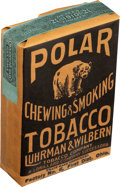 """Baseball Cards:Unopened Packs/Display Boxes, 1910 """"Polar Bear"""" Chewing & Smoking Paper Tobacco Pouch. ..."""
