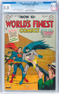 Golden Age (1938-1955):Superhero, World's Finest Comics #71 (DC, 1954) CGC VG/FN 5.0 Off-white to white pages....