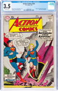 Silver Age (1956-1969):Superhero, Action Comics #252 (DC, 1959) CGC VG- 3.5 Off-white pages....