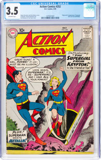 Action Comics #252 (DC, 1959) CGC VG- 3.5 Off-white pages