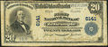 National Bank Notes:Pennsylvania, Zelienople, PA - $20 1902 Plain Back Fr. 660 The First National Bank Ch. # 6141 Very Good-Fine.. ...