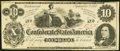 Confederate Notes:1862 Issues, CT46/344A $10 1862 Counterfeit Very Fine-Extremely Fine.. ...