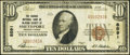 National Bank Notes:Pennsylvania, Smethport, PA - $10 1929 Ty. 1 The Grange National Bank of McKean County Ch. # 8591 Very Fine.. ...
