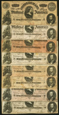 T65 $100 1864 Eight Examples Fine or Better