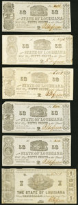 Obsoletes By State:Louisiana, Shreveport, LA- State of Louisiana 50¢ (5); $1 Mar. 1, 1864 Fine or Better.. ... (Total: 6 notes)
