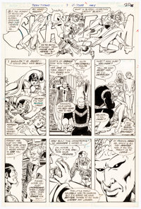 George Perez and Romeo Tanghal The New Teen Titans #7 Page 16 Original Art (DC, 1981)